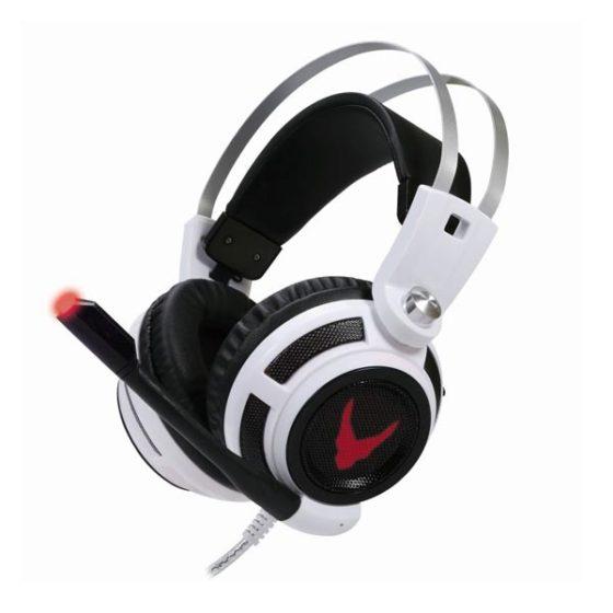 OMEGA Ακουστικό 50mm με μικρόφωνο gaming w/Vibration & Led USB Vibration λευκό OVH4055W