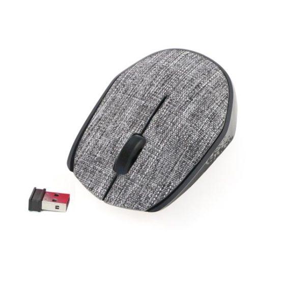 OMEGA  Ποντίκι Ασύρματο Fabric Braided 2.4Ghz γκρι OM0430WG