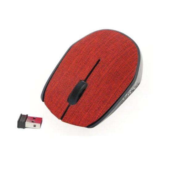 OMEGA Ποντίκι Ασύρματο Fabric Braided 2.4Ghz κόκκινο OM0430WR