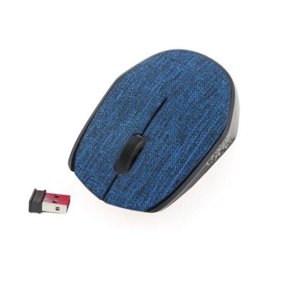 OMEGA Ποντίκι Ασύρματο Fabric Braided 2.4Ghz σκούρο μπλε OM0430WDB