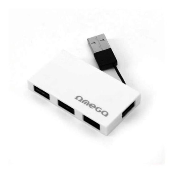 OMEGA USB 2.0 HUB 4 PORT BOX άσπρο  OUH24BΒW