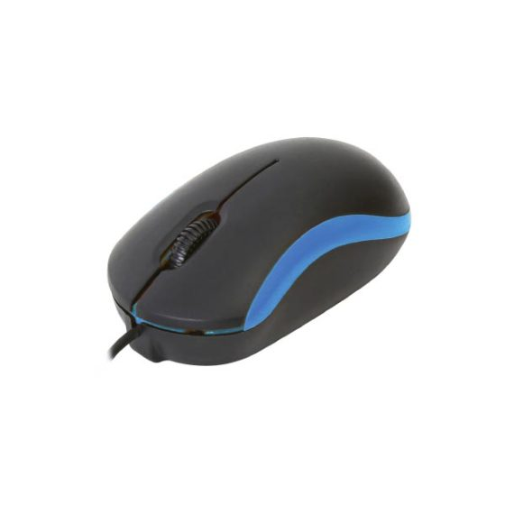 Omega Ενσύρματο Ποντίκι USB μπλέ OM-07VBL