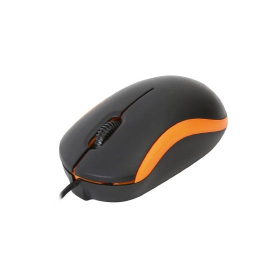 Omega Ενσύρματο Ποντίκι USB πορτοκαλί  OM-07VO