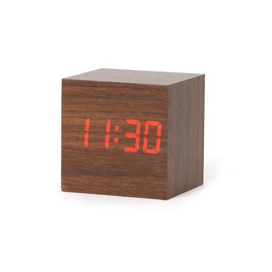 Platinet Ρολόι με ξυπνητήρι ξύλινο