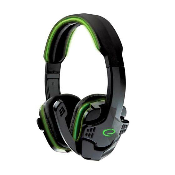 Raven Ακουστικό με μικρόφωνο gaming Πράσινο EGH310G