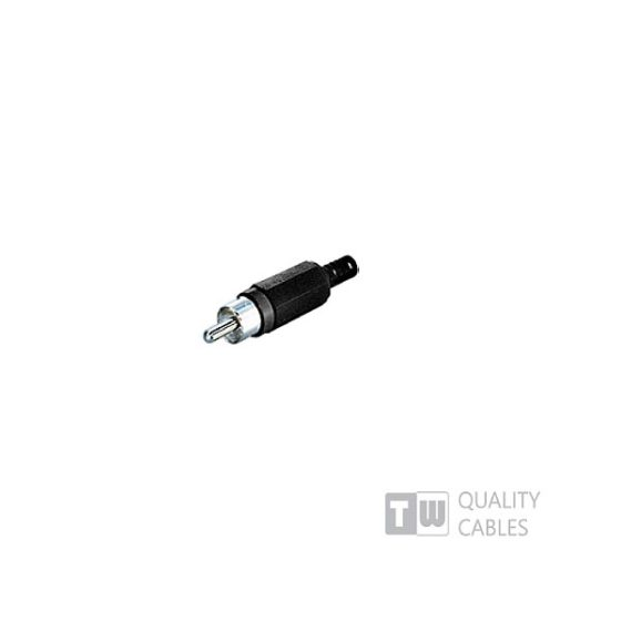 Rca Male Connector Assembly Type Black