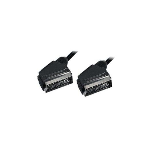 SCART Plug Plug 21C 1.5m - Ccs με όλα τα pin συνδεδεμένα Nickel