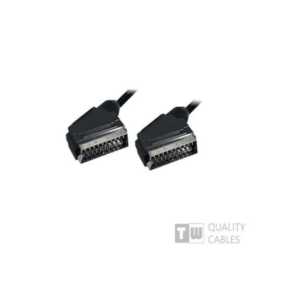 SCART Plug Plug 21C 5m - Ccs  Nickel
