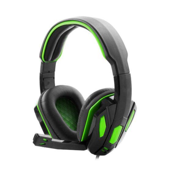 Snake Ακουστικό με μικρόφωνο gaming πράσινο EGH340
