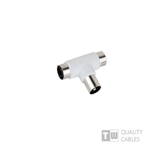 Tv Adaptor 9.5MM T Type M/2XF   συσκ. 10τμχ