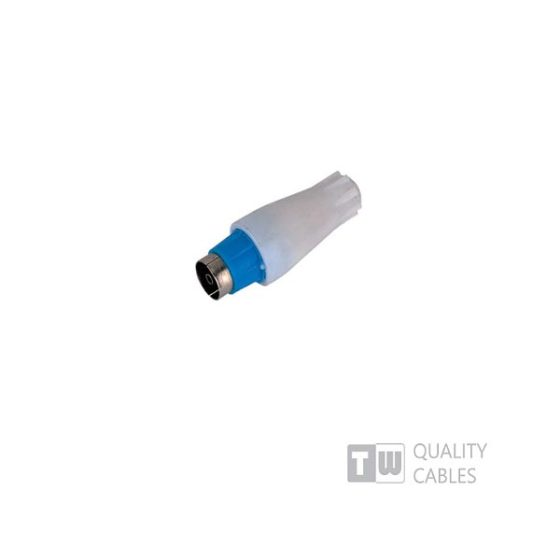Tv Connector 9.5MM Female Blue  συσκ. 20τμχ