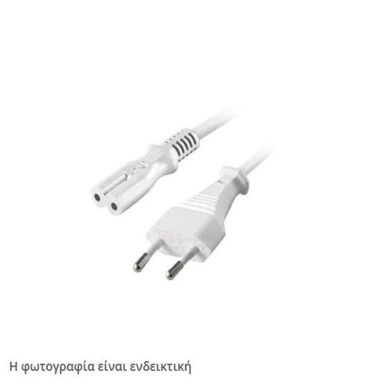 USED Καλώδιο τροφοδοσίας ρεύματος οκταράκι 2x0.5mm άσπρο ή γκρι χωρίς συσκευασία