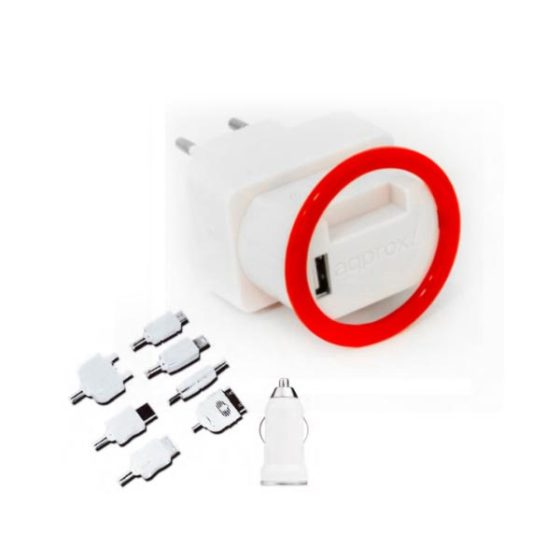 Universal Kit Holder Wall & Car 2.1A Charger Approx