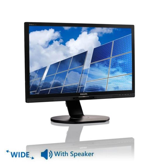 """Used Monitor 221B LED/Philips/22""""/1920x1080/Wide/Silver/Black/With Speakers/D-SUB & DVI-D & USB HUB"""
