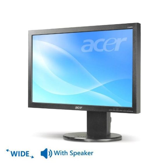 "Used Monitor B193W TFT/ACER/19""/1440x900/Wide/Black/With Speakers/D-SUB & DVI-D"