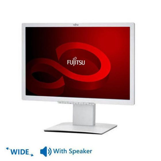 "Used Monitor B22W-x LED/Fujitsu /22""/1680x1050/wide/White/NP/With Speakers/VGA&DVI-D&DisplayPort"