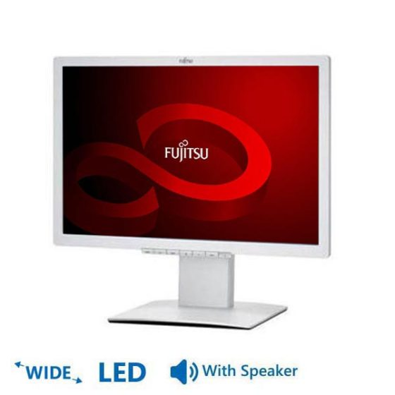 "Used Monitor B22W-x LED/Fujitsu /22""/1680x1050/wide/White/With Speakers/VGA&DVI-D&DisplayPort"