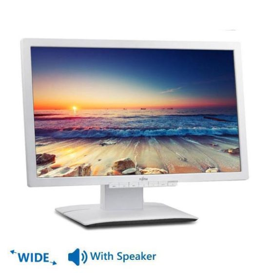 "Used Monitor B23T LED/Fujitsu/23""/1920x1080/Wide/White/With Speakers/D-SUB & DVI-D & Display Port"