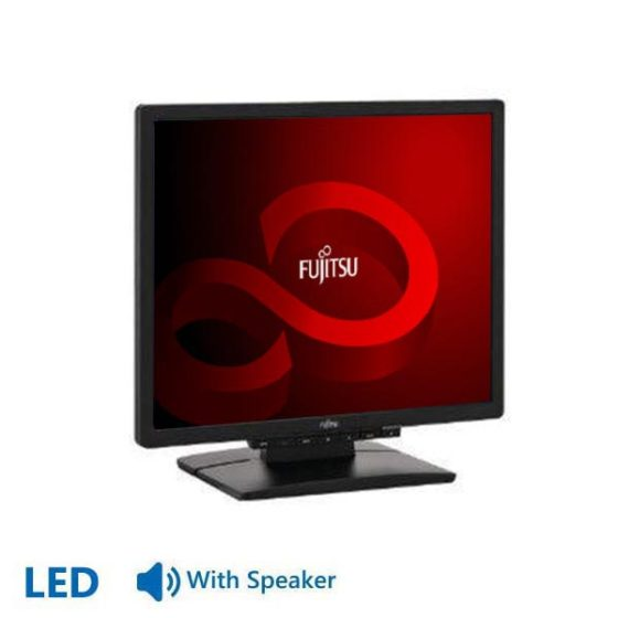 "Used Monitor E19-x LED/Fujitsu/19""/1280x1024/Black/With Speakers/D-SUB&DVI-D"