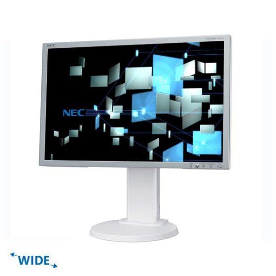 """Used Monitor E222W TFT/NEC /22""""/1680x1050/Wide/White/D-SUB & DVI-D"""