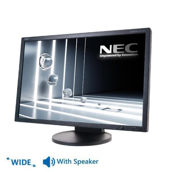"""Used Monitor EA221Wx TFT/NEC/22""""/1680 x 1050/wide/Black/With Speakers/D-SUB & DVI-D"""