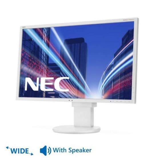 "Used Monitor EA223Wx TFT/NEC/22""/1680 x 1050/wide/White/With Speakers/D-SUB&DVI-D&DisplaPort&USB HUB"
