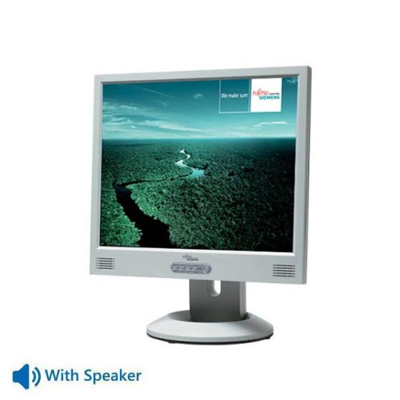 "Used Monitor P19-x TFT/Fujitsu/19""/1280x1024/White/With Speakers/VGA & DVI-D"