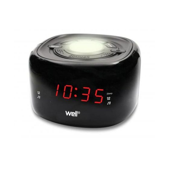 WELL Ξυπνητήρι ρολόι με φωτάκι νυχτός και ραδιόφωνο