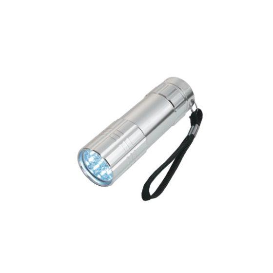 WELL Φακός 9 LED Compact  ασημί