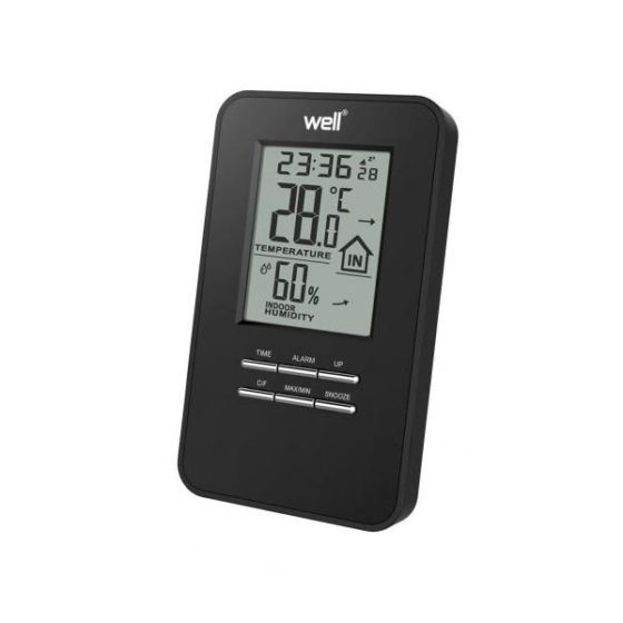 WELL Ψηφιακό Θερμόμετρο Υγρόμετρο μαύρο