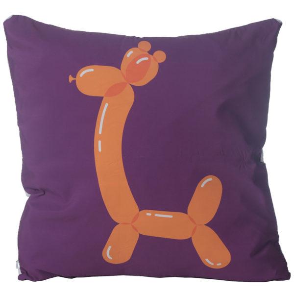 Decorative Cushion with Insert - Fun Balloon Animal Giraffe
