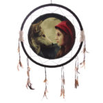 Decorative Fantasy Wolf and Women Dreamcatcher Large