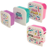 Fun Gym Design Set of 3 Plastic Lunch Boxes