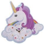 Fun Unicorn and Rainbow Design Decorative Wall Clock