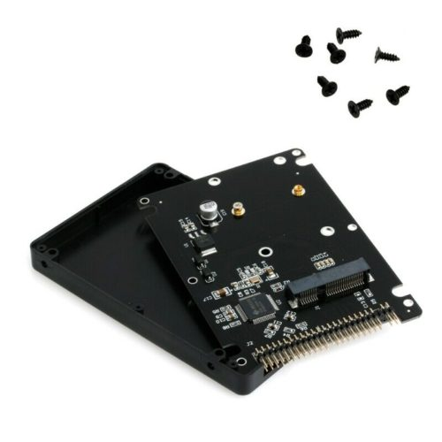 "44PIN mSATA to 2.5"" IDE HDD SSD mSATA to PATA Adapter Converter Card with Case"