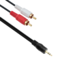 audio cable detech 3.5 2rca