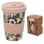 Bamboo Eco Friendly Pandarama Design Screw Top Travel Mug