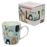 Collectable New Bone China Mug - Feline Fine Cat Design