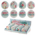 Fun Collectable Festive Unicorns Christmas Compact Mirror