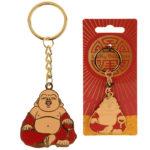 Fun Collectable Lucky Buddha Enamel Keyring