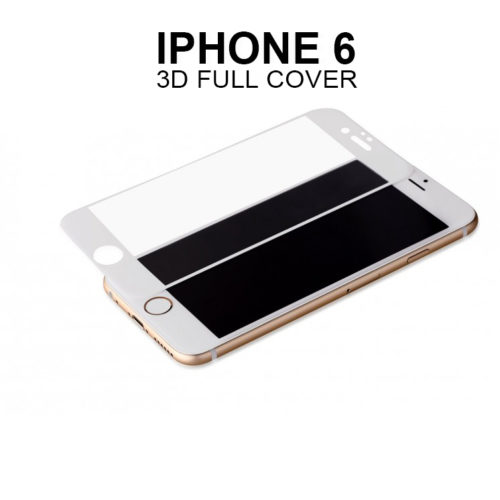 full screen glass protector for iphone white