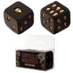 Gothic Black and Gold Set of 2 Skull Dice