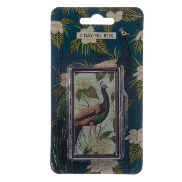 Handy 7 Day Pill Box - Peacock