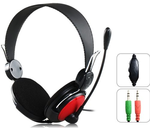 headsets ovleng for computer with microphone