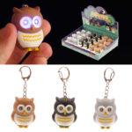 Hooting Owl Novelty Key Ring with Light Up Eyes