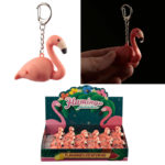 Light and Sound Flamingo Keyring