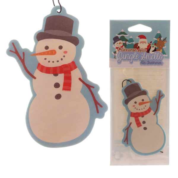 Snowman Shaped Cinnamon Scented Christmas Air Freshener