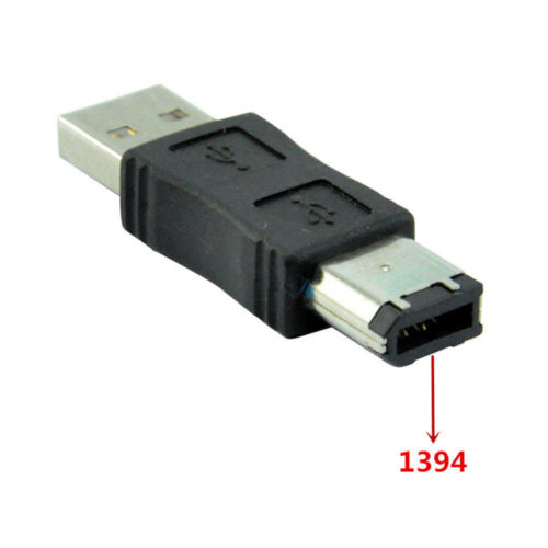 Firewire IEEE 1394 6 Pin to USB 2.0 Male Adaptor Convertor