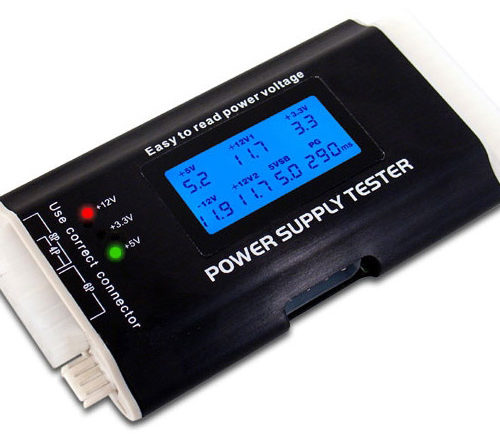 TESTER FOR POWER SUPPLY W/24PIN/SATA