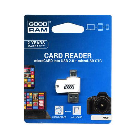 Αναγνωστης Καρτων Μνημης Goodram USB Για Micro SD + microUSB OTG